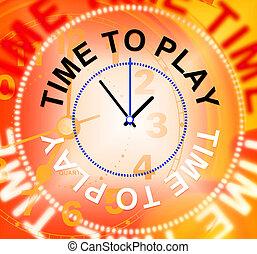 représente, récréation, jeu, joyeux, temps, jouer