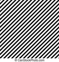 reprise, modèle, diagonal, arrière-plan noir, rayé, blanc