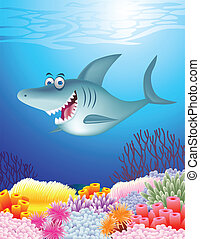 requin, dessin animé