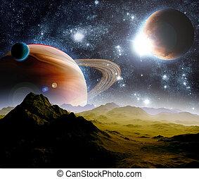 resources., loin, résumé, travel., space., avenir, profond, fond, nouveau, technologies