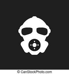 respirateur, icône, vecteur, visage humain
