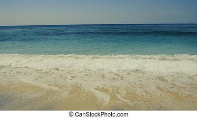 ressac, exotique, plage sable