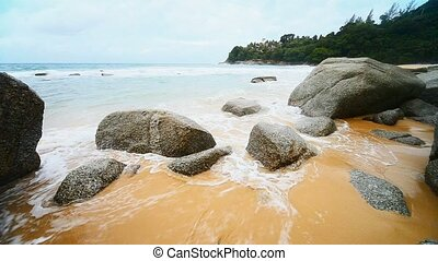 ressac, exotique, plage., thaïlande