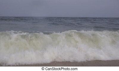 ressac, mouvement, géant, lent, rupture, océan, conduit, élevé, vagues, vents