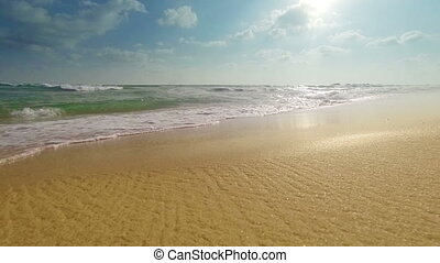 ressac, plage, sablonneux, mer