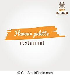 restaurant, écusson, éléments, emblème, logotype, barre, café, ou, logo