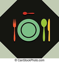 restaurant, coutellerie