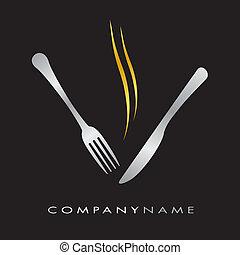 restaurant, menu, logotype