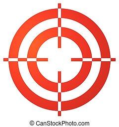 reticle, coloré, réticule, marque, forme, blanc, cible