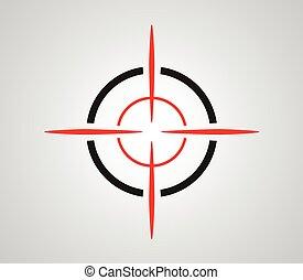 reticle, graphiques, cible, viseur, réticule