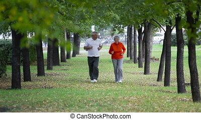retiré, joggeurs