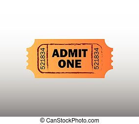 retro, billet, cinéma