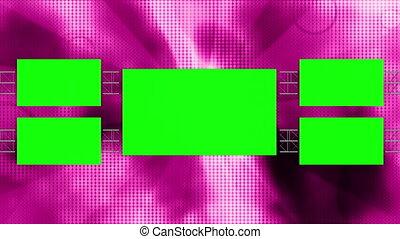 retro, boucle, vert, écrans, nouveau