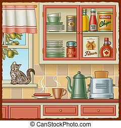 retro, cuisine