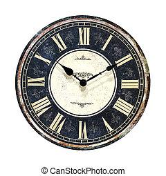 retro, horloge