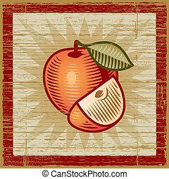 retro, pomme