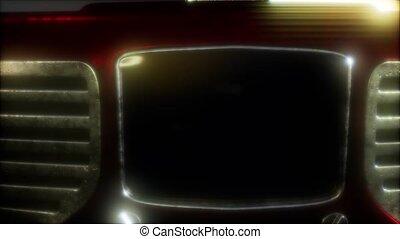 retro, radio, façonné, vieux, vendange