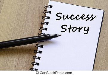 reussite, cahier, écrire, histoire