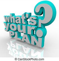 reussite, est, -, stratégie, planification, plan, prêt, ton