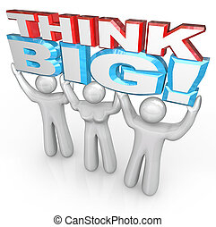 reussite, gens, grand, ensemble, ascenseur, mots, équipe, penser