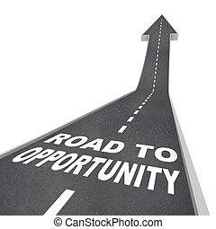 reussite, voyage, -, croissance, occasion, route