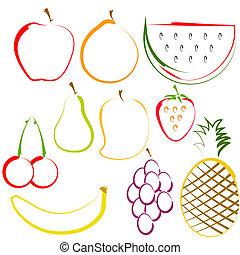 revêtir art, fruits