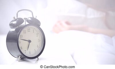 reveil, sonner, matin, horloge