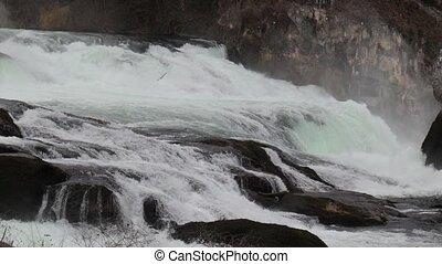 rhin, chutes, suisse, chute eau