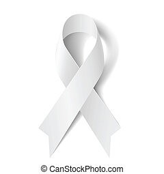 ribbon., blanc