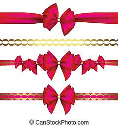 ribbon?, ensemble, arcs, cadeau