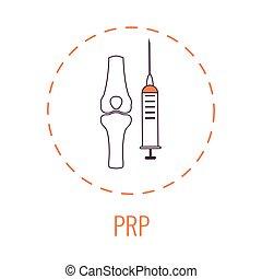 riche, plasma, plaquette, genou, traitement, monde médical, affiche