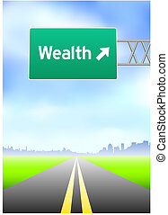 richesse, signe route