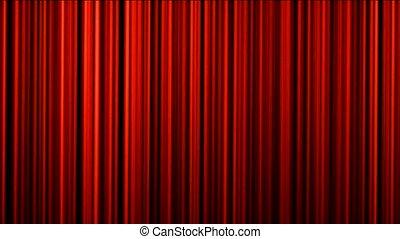 rideau, étape, théâtre, rideau, rouges