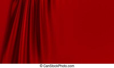 rideau, opening., screen., rouge vert
