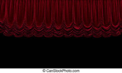 rideau, rouges, théâtre, canal, alpha