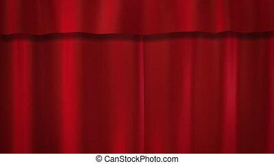 rideaux rouges, étape