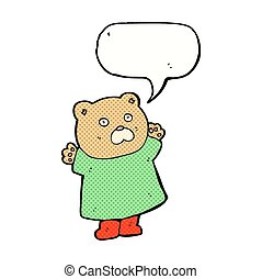 rigolote, bulle discours, dessin animé, ours