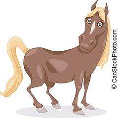 rigolote, cheval, dessin animé, illustration