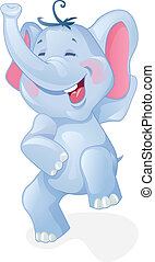 rigolote, dessin animé, éléphant