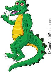 rigolote, dessin animé, crocodile