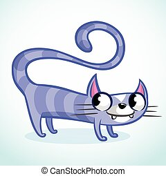 rigolote, dessin animé, illustration, chat