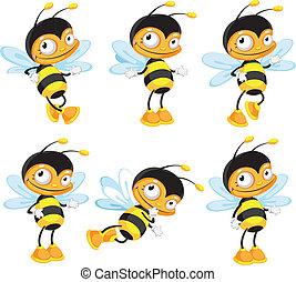 rigolote, ensemble, abeille