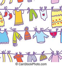 rigolote, ensemble, modèle, -, seamless, conception, bébé vêt