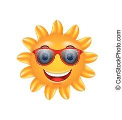 rigolote, face soleil, lunettes soleil, été