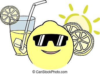 rigolote, illustration, citron, grandes vacances