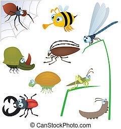 rigolote, insecte, ensemble, #2