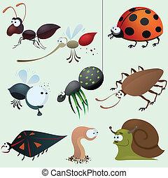 rigolote, insecte, ensemble