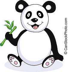 rigolote, panda, dessin animé