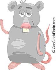 rigolote, rat, dessin animé, illustration