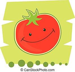 rigolote, tomato., dessin animé